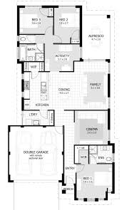 interesting three bedroom house plan and design 43 with additional