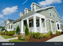 cottage style homes residential cottage style homes stock photo 114870949