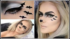 Good Makeup Ideas For Halloween by Easy Bat Makeup Cute Halloween Animal Look Youtube