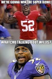Ray Lewis Meme - nfl memes on twitter patrick willis vs ray lewis http t co