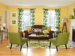 curtains yellow walls blue curtains decorating 15 cheery yellow