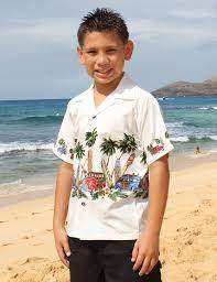 hawaiian boys white shirt surfing woody car shaka time hawaii