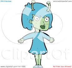 clipart of a cartoon alien royalty free vector illustration