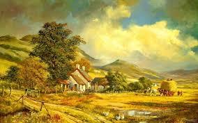 7 farm painting hd wallpaper wallpaper list 1722 rainbow over