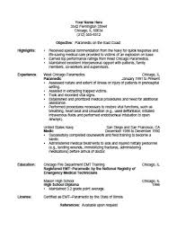 Scannable Resume Examples by Firefighter Resume Template Emt Resumes Emt Resume Samples Resume