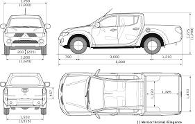 mitsubishi l200 single cab 2008 mitsubishi l200 double cab pickup truck blueprints free