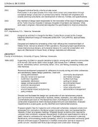 Sample Profiles For Resumes by Architect Resume Architect Resume Sample