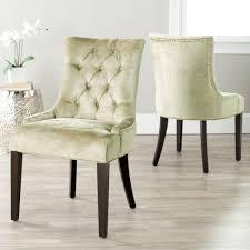 safavieh abby antique sage cotton blend side chair set of 2