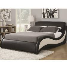 coaster upholstered beds queen niguel modern upholstered bed