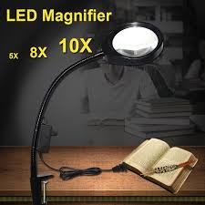 hands free lighted magnifier standing style hands free loupe flexible magnifying glass with led
