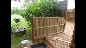 par vue de jardin merveilleux meuble de jardin en palette de bois 4 terrasse en
