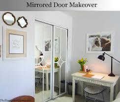 Sliding Glass Closet Door Mirrored Closet Door Makeover Door Makeover Doors And Bedrooms