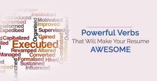 Resume Strong Verbs 16 Powerful Verbs That Will Make Your Resume Awesome Wisestep