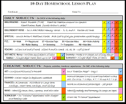 lesson plan template swimming 10 days homeschooling lesson plan enare