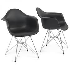 lovable eames style vortex med plastic side chair walnut le bark