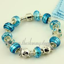 murano glass beads bracelet silver images Silver charms bracelets with crystal murano glass beads wholesale jpg