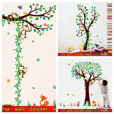 compare prices on spring decorations for kids online shopping buy 3 designs monkey tree waterproof wall stickers for kids room decoration wallpaper craft green spring branch