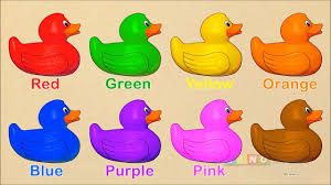 learning colors for kids with rubber duck coloring page colors