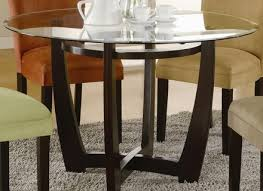 Glass Top Kitchen Table Joanne Glass Top Round Dining Table P - Glass top tables for kitchen