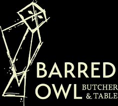barred owl butcher table