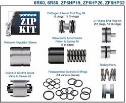 6r60 6r80 zf6hp19 zf6hp26 zf6hp32 valve body rebuild kit sonnax