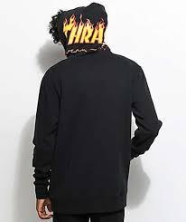 vans x thrasher black hoodie my queen pinterest van