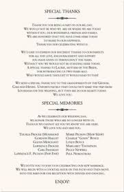 Wedding Bulletins Examples Christian Wedding Program Ideas Free Printable Wedding Program