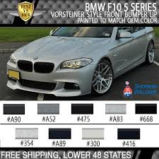 fits 2011 2016 bmw f10 5 series v style front bumper lip painted