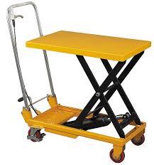 hand trucks r us wesco scissor lift table with folding handle