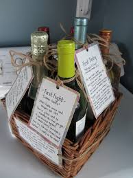 bridal shower wine basket milestone wine basket rural story