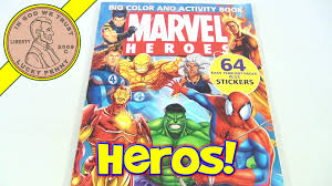 marvel heroes coloring book 2005 fantastic four spiderman