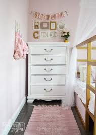 a shabby chic glam little u0027s bedroom makeover in pink u0026 gold