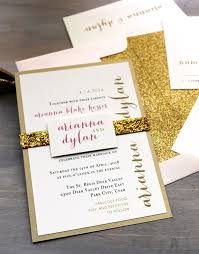 gold wedding invitations glitter wedding invitations gold glitter wedding invitation