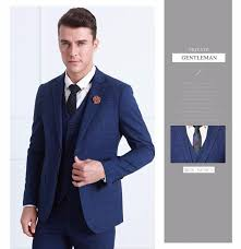 wedding suits brand mens suit wedding suits for royal blue plaid tuxedo slim