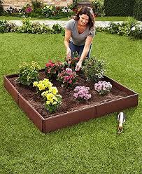 raised flower bed amazon com