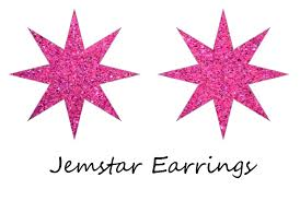 jemstar earrings jemstar earrings by hawkdaughter on deviantart