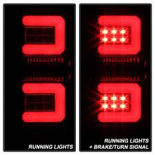 chevy silverado led tail lights spyder 5083739 chevy silverado light bar led tail lights black