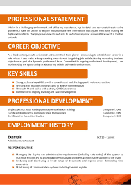 Resume Job History Format by Breathtaking Resume Examples No Work Experience High