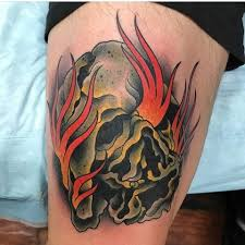 olio flames tattoo by tattootomtaylor from black vulture gallery