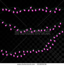 purple christmas lights isolated realistic design stock vector