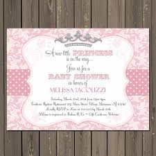princess baby shower princess baby shower invitation in pink and grey with a tiara