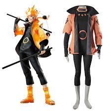 Naruto Costumes Halloween Naruto Cosplay Uzumaki Naruto Rikudou Sennin Modo Cosplay