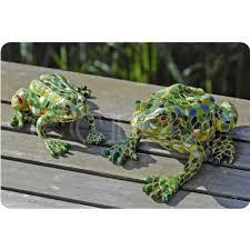large mosaic coloured resin frog garden ornament co uk