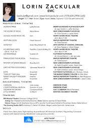 Ballet Resume Resume U2014 Lorin Zackular