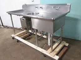 Sinks Other Commercial Kitchen Sinks Ebay In Commercial Prep - Kitchen prep sinks