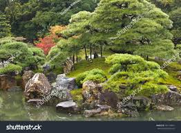 traditional japanese zen garden kyoto japan stock photo 101174941