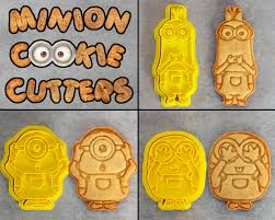 halloween fondant cutters minion cookie cutter set from crimsonmanecreations on etsy studio