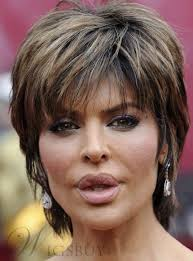 lisa rinna weight off middle section hair latest trend short layered straight lisa rinna hairstyle capless