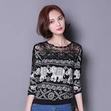 elephant blouse 2016 s fashion blouses shirts shoulder lace blouse