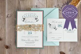 Wedding Invitation Card Diy Modern Banner Wedding Invitation 2017 Louie Awards Finalist